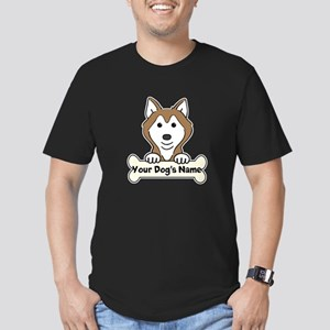Personalized Husky Men's Fitted T-Shirt (dark)