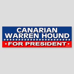 CANARIAN WARREN HOUND Bumper Sticker