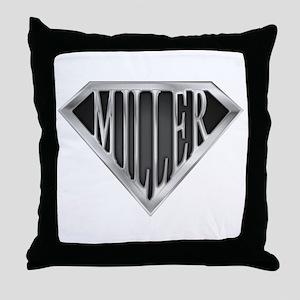 SuperMiller(metal) Throw Pillow