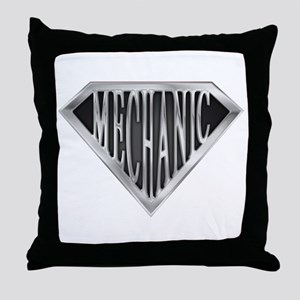 SuperMechanic(metal) Throw Pillow