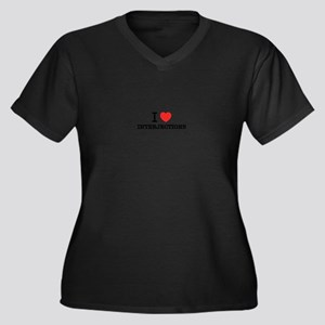 I Love INTERJECTIONS Plus Size T-Shirt