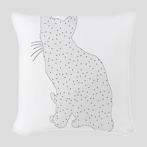 Cat Woven Throw Pillow