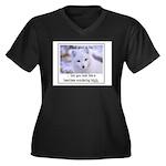 Heartless Women's Plus Size V-Neck Dark T-Shirt
