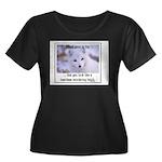 Heartless Women's Plus Size Scoop Neck Dark T-Shir