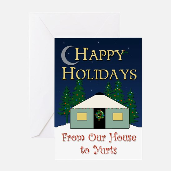 Cute Yurt Greeting Card