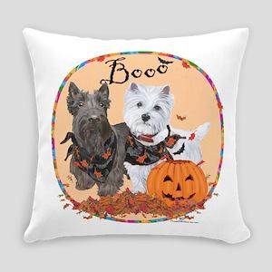 Scottie Westie Halloween Everyday Pillow