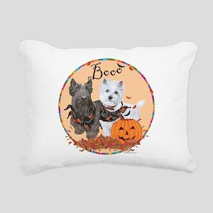 Scottie Westie Halloween Rectangular Canvas Pillow