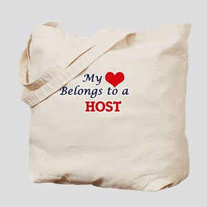 My heart belongs to a Host Tote Bag