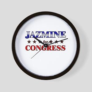 JAZMINE for congress Wall Clock