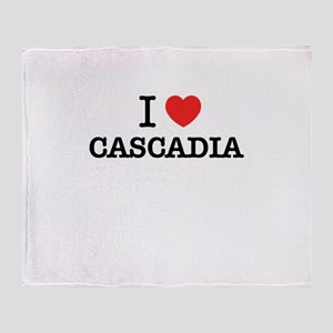 I Love CASCADIA Throw Blanket