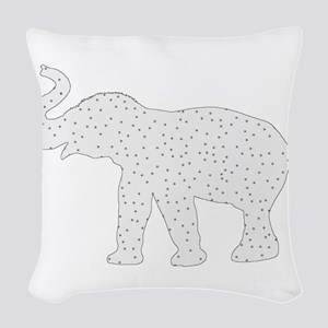 Elephant Woven Throw Pillow