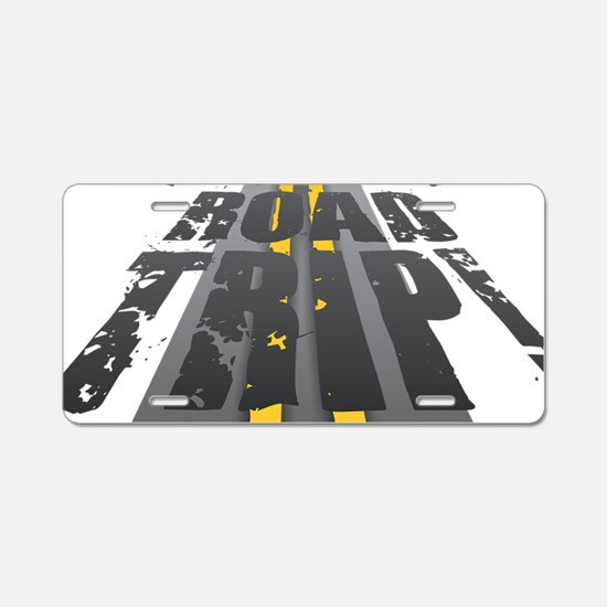 Road Trip Aluminum License Plate