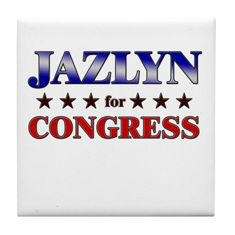 JAZLYN for congress Tile Coaster