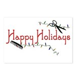 Hairstylist Holiday Card Postcards (Package of 8)