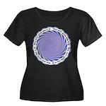 HypnoQ Women's Plus Size Scoop Neck Dark T-Shirt