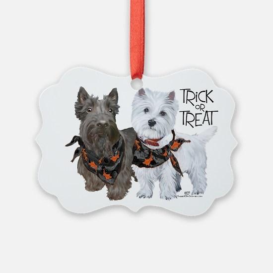 Scottie Westie Halloween Ornament