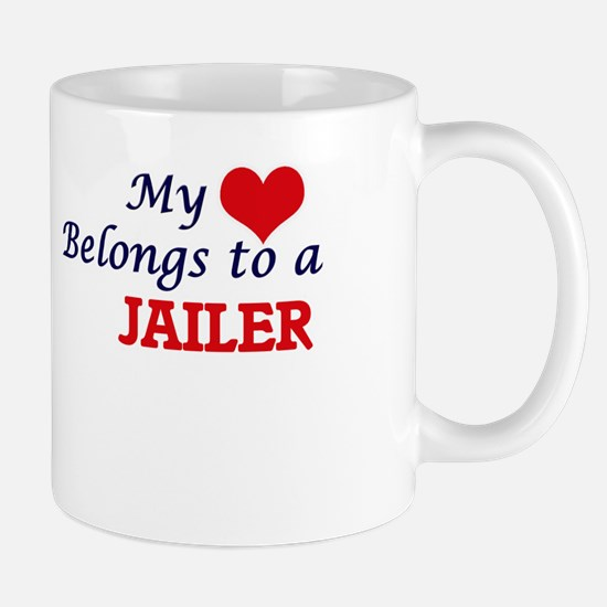 My heart belongs to a Jailer Mugs