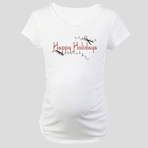 Hairstylist Happy Holidays Maternity T-Shirt