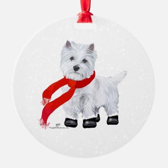 Westie Wintertime Ornament