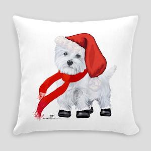 Westie Santa Claus Everyday Pillow