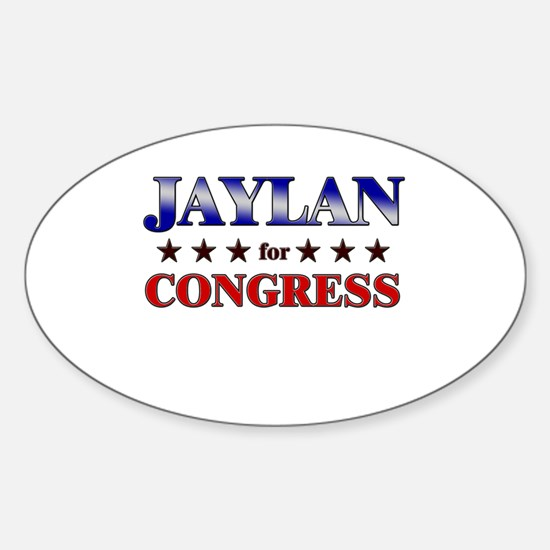 JAYLAN for congress Oval Decal