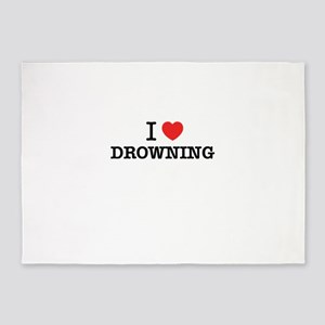 I Love DROWNING 5'x7'Area Rug