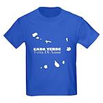 Cape Verde Islands Kids Dark T-Shirt