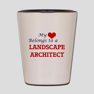 My heart belongs to a Landscape Archite Shot Glass