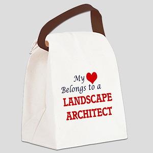 My heart belongs to a Landscape A Canvas Lunch Bag