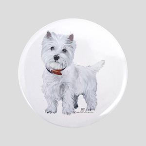 West Highland White Terrier Button
