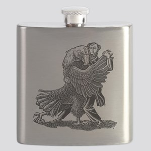 Alexis DeToqueville tangos with an American Flask