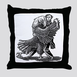 Alexis DeToqueville tangos with an Am Throw Pillow