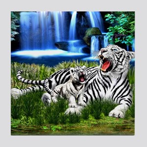 Tiger Cub Learns to Roar Tile Coaster
