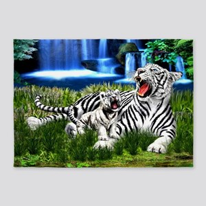 Tiger Cub Learns to Roar 5'x7'Area Rug