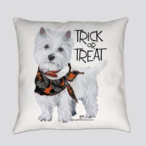 Westie Trick or Treat Everyday Pillow