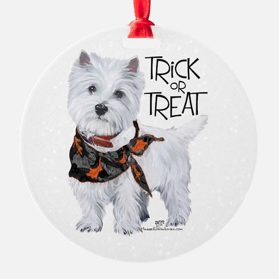 Westie Trick or Treat Ornament