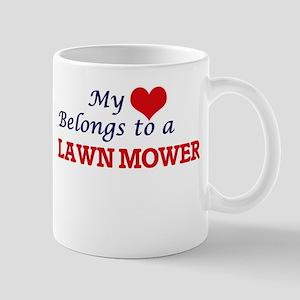 My heart belongs to a Lawn Mower Mugs