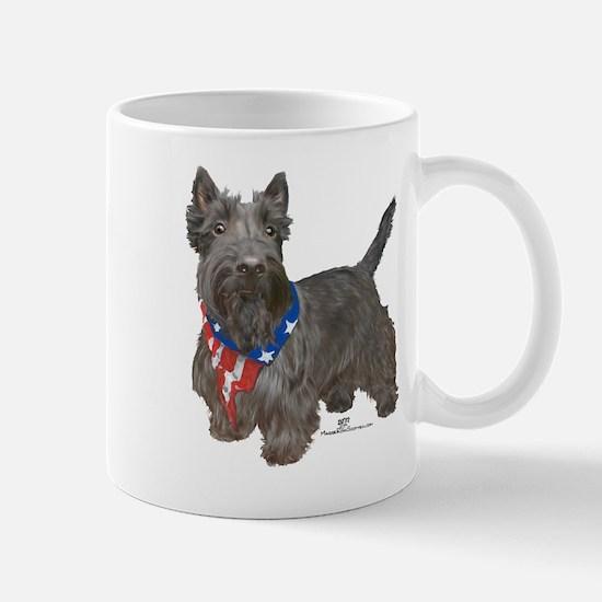Scottish Terrier Patriotic Mug