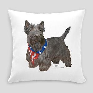 Scottish Terrier Patriotic Everyday Pillow