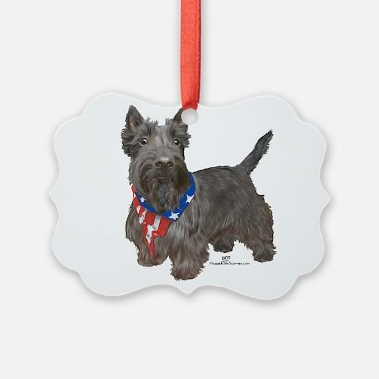 Scottish Terrier Patriotic Ornament