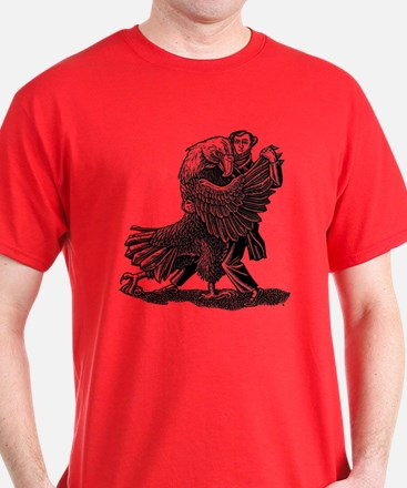 Alexis DeToqueville tangos with an America T-Shirt