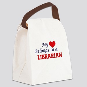 My heart belongs to a Librarian Canvas Lunch Bag