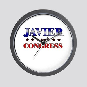 JAVIER for congress Wall Clock