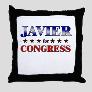JAVIER for congress Throw Pillow