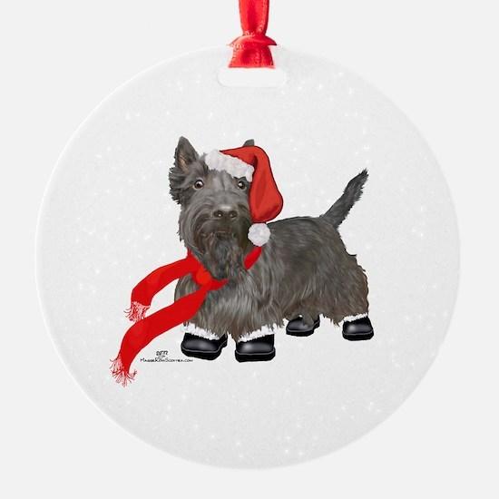 Scottie Santa Claus Ornament
