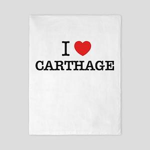 I Love CARTHAGE Twin Duvet