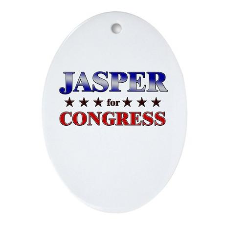 JASPER for congress Oval Ornament
