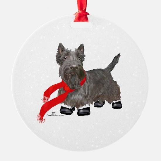 Scottie in Winter Ornament