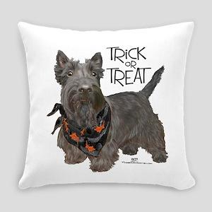 Scottie Dog Trick or Treat Everyday Pillow