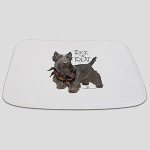 Scottie Dog Trick or Treat Bathmat